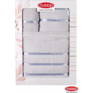 Набор из 3 полотенец Hobby home collection Dolce 30x50/50x90/70x140 св.голубое (1501001210) набор кухонных полотенец pupilla miranda 3d бамбук 30x50 3 штуки 8679