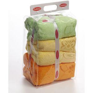 цена Полотенце Hobby home collection Dora 70x140 см желтый/оранжевый/зеленый (1501000455)
