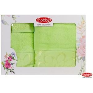 Набор из 3 полотенец Hobby home collection Dora 30x50/50x90/70x140 зеленый (1501001217) набор из 4 полотенец hobby home collection rainbow 70x140 см 4 штуки зеленый 1501001202