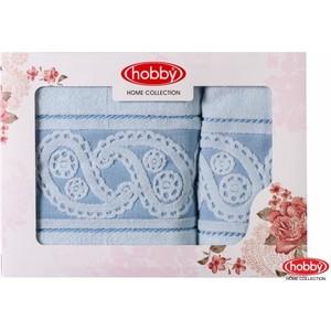 Набор из 2 полотенец Hobby home collection Hurrem 50x90/70x140 голубой (1501001222)