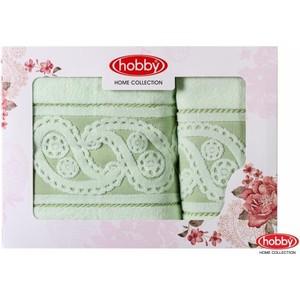 Набор из 2 полотенец Hobby home collection Hurrem 50x90/70x140 зеленый (1501001223)