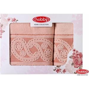 Набор из 2 полотенец Hobby home collection Hurrem 50x90/70x140 персиковый (1501001226)