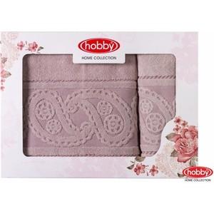 Набор из 2 полотенец Hobby home collection Hurrem 50x90/70x140 розовый (1501001227)