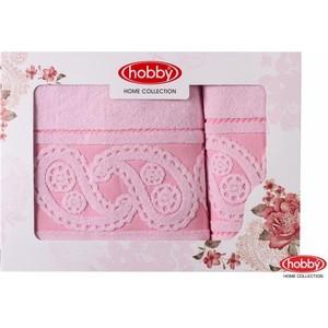 Набор из 2 полотенец Hobby home collection Hurrem 50x90/70x140 светло-розовый (1501001228)