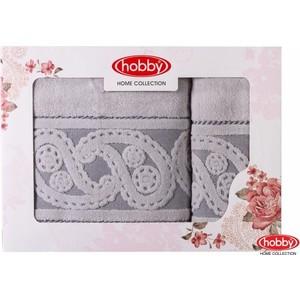 Набор из 2 полотенец Hobby home collection Hurrem 50x90/70x140 серый (1501001229)