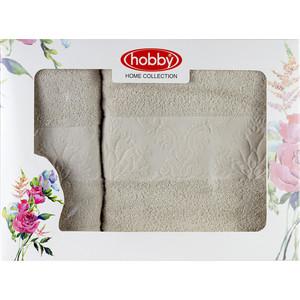 Набор из 2 полотенец Hobby home collection Ruzanna 50x90/70x140 светло-коричневый (1501001059) цена