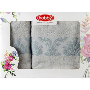 Набор из 2 полотенец Hobby home collection Ruzanna 50x90/70x140 светло-голубой (1501001058) цена