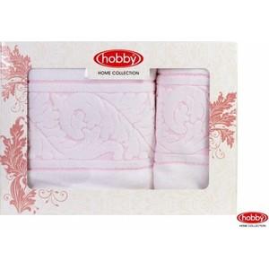 Набор из 2 полотенец Hobby home collection Sultan 50x90/70x140 белый (1501001231)
