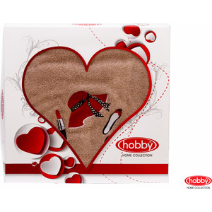 Полотенце Hobby home collection Love 50x90 см бежевый (1501000502)