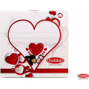 Полотенце Hobby home collection Love 50x90 см белый (1501000503)