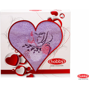 Полотенце Hobby home collection Love 50x90 см лиловый (1501000505)