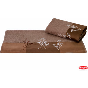 Полотенце Hobby home collection Flora 50x90 см коричневый (1501000768)