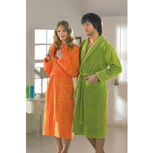 все цены на Халат женский Hobby home collection Angora M оранжевый (1501000830)