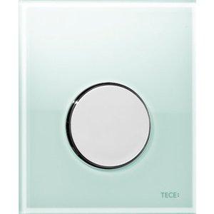 Панель смыва для писсуара TECE TECEloop Urinal (9242662) стекло зеленое, клавиша нержавеющая сталь лицевая панель tece teceloop modular 9240679 без клавиш стекло рубиновый