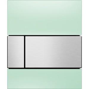 Панель смыва для писсуара TECE TECEsquare Urinal (9242804) стеклянная стекло зелёное, клавиша нержавеющая сталь merxteam спецовник стекло и нержавеющая сталь 65215 хром