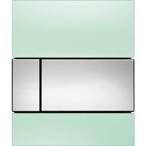 Панель смыва для писсуара TECE TECEsquare Urinal (9242805) стеклянная стекло зелёное, клавиша хром глянцевый