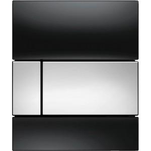 Панель смыва для писсуара TECE TECEsquare Urinal (9242807) стеклянная стекло чёрное, клавиша хром глянцевый
