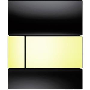Панель смыва для писсуара TECE TECEsquare Urinal (9242808) стеклянная стекло чёрное, клавиша позолоченная позолоченная цепочка