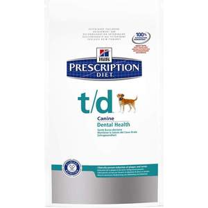 Сухой корм Hill's Prescription Diet t/d Canine Dental Health диета при лечении заболеваний полости рта для собак 3кг (4023) консервы hill s prescription diet l d canine hepatic health диета при лечении заболеваний печени для собак 370г 8011