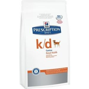 Сухой корм Hill's Prescription Diet k/d Kidney Care with Chicken с курицей диета при лечении заболеваний почек и МКБ для собак 12кг (9182) цена и фото