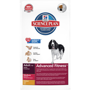 Сухой корм Hill's Science Plan Advanced Fitness Adult Medium with Chicken с курицей для собак средних пород 2,5 кг (3266)