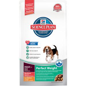 Сухой корм Hill's Science Plan Perfect Weight Adult Medium для собак средних пород склонных к полноте 10кг (3667) сухой корм royal canin medium dermacomfort для собак средних пород склонных к кожным раздражениям и зуду 10кг 117100