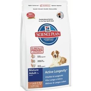 Сухой корм Hill's Science Plan Active Longevity Mature Adult 7+ with Lamb & Rice с ягненкои и рисом для пожилых собак 3кг (7538)