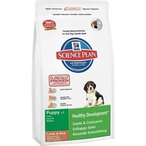 Сухой корм Hill's Science Plan Puppy Healthy Development Puppy Medium with Lamb & Rice с ягненком и рисом для щенков средних пород