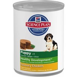 Консервы Hill's Science Plan Puppy Healthy Development Puppy Medium with Savoury Chicken с курицей для щенков средних пород 370г (8036)