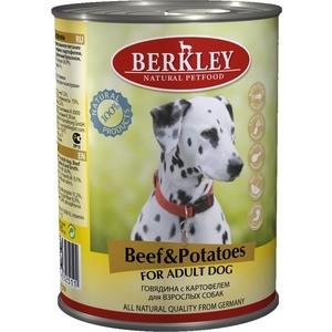 Консервы Berkley For Adult Dog Beef & Potatoes с говядиной и картофелем для взрослых собак 400г (75019)  недорого