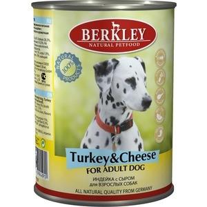 Консервы Berkley For Adult Dog Turkey & Cheese с индейкой и сыром для взрослых собак 400гр (75071) недорого
