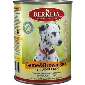 Консервы Berkley For Adult Dog Game & Brown Rice с олениной и коричневым рисом для взрослых собак 400г (75073)