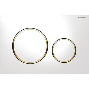 Кнопка смыва Geberit Sigma 20 (115.882.KK.1) белая с золотом клавиша смыва geberit sigma 80 электронная зеркальное стекло 116 090 sm 1