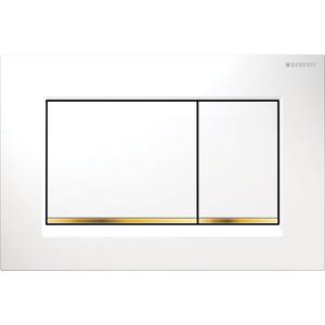 Кнопка смыва Geberit Sigma 30 белая/золото (115.883.KK.1) клавиша смыва geberit sigma 80 электронная зеркальное стекло 116 090 sm 1