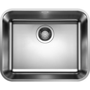 Мойка кухонная Blanco Supra 500 U сталь с клапаном (518206) кухонная мойка blanco supra 180 u нерж сталь полированная с корзинчатым вентилем с коландером