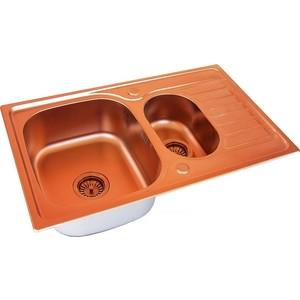 Мойка кухонная ZorG Inox Pvd (SZR-780-2-480 COPPER) мойка кухонная zorg inox szr 44 bronze
