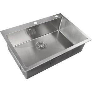Мойка кухонная ZorG Inox RX (RX-7551) мойка кухонная zorg inox glass 600x510 gl 6051 white bronze