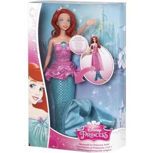 Mattel Disney Princess Кукла Принцессы Дисней Ариель, превращается из русалочки в принцессу CHR73 mattel храбрая сердцем с фигурками трансформерами принцессы disney