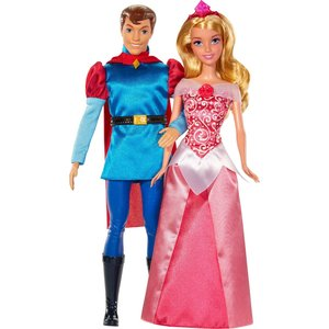 Mattel Disney Princess Куклы Принцессы Дисней Спящая красавица и принц Филипп BMB71 mattel храбрая сердцем с фигурками трансформерами принцессы disney