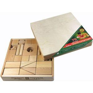 Престиж Конструктор деревянный не окрашенный 70 деталей, в закрытой деревянной коробке в термопленке К3301