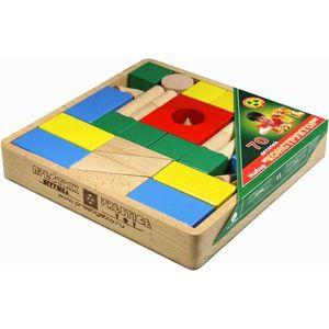 Престиж Конструктор деревянный цветной 70 деталей, в открытой деревянной коробке в термопленке КЦ2301
