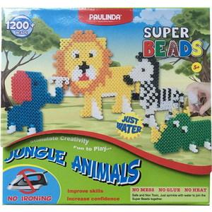 Paulinda Мозаика Животные джунглей, более 1200 деталей, без использования утюга 150012 мозаика paulinda мозаика super beads сова 200 элементов