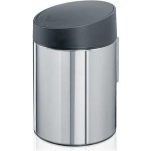 Ведро для мусора с крышкой 5 л Brabantia Slide Bin (397127) полированная сталь ведро для мусора 10 л brabantia touch bin 477201 полированная сталь