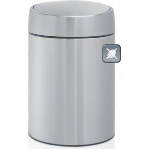 Ведро для мусора с крышкой 5 л Brabantia Slide Bin (477546) матовая сталь