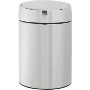 Ведро для мусора с крышкой 5 л Brabantia Slide Bin (477560) полированная сталь ведро для мусора 10 л brabantia touch bin 477201 полированная сталь