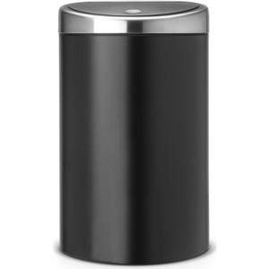Мусорный бак 40 л Brabantia Touch Bin (378768) матовый черный / крышка из матовой стали