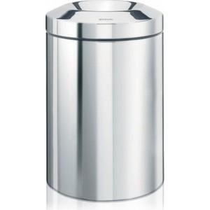brabantia корзина для бумаг 181122 Несгораемая корзина для бумаг 7 л Brabantia (378928) полированная сталь