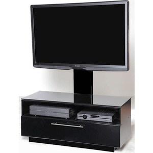 Тумба под телевизор Allegri Бриз 1 800 с плазмастендом черный глянец каркас черный стекло черное