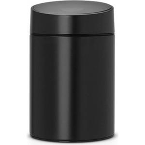 Ведро для мусора с крышкой 5 л Brabantia Slide Bin (483189) матовый черный brabantia ведро для мусора touch bin 3 л 18 5х28 см стальное полированное