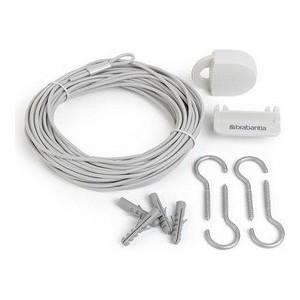 Комплект бельевой веревки Brabantia (105647) белый brabantia комплект бельевой веревки 12 м белый